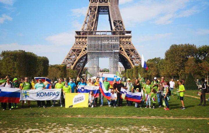 Kompas skupaj z navijači osvojil Pariz
